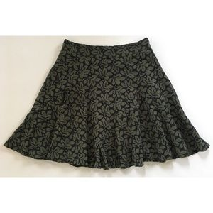 New Ann Taylor Floral Eyelet Lace Skirt olive 2P
